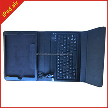 for iPad air protector pu leather cover,flip stand case for ipad air with keyboard