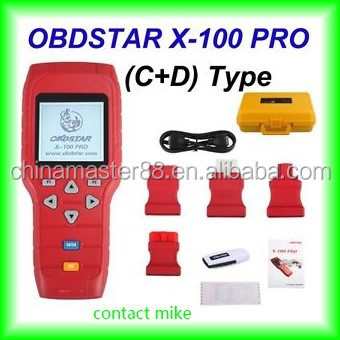 china wholesale and retail x-100 pro auto key programmer C + D sofware immo + Odometer + OBD Software eeprom programmer immo