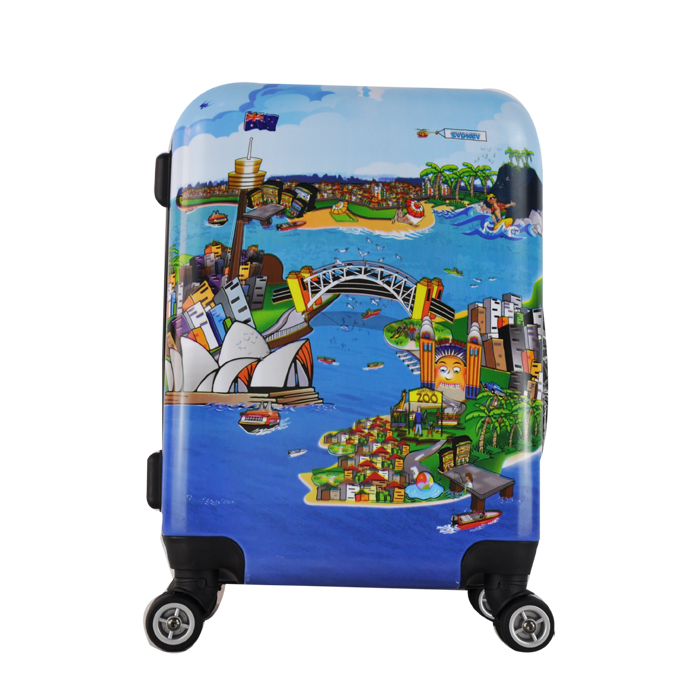 "20""26""30"" ABS+ PC Sydney trolley luggage hot selling in USA and EURO"