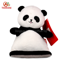ICTI factory wholesale plush stuffed animal panda toy mobile cell phone holder