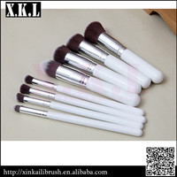 8 piece personalized makeup brushes with 100% nylon hair