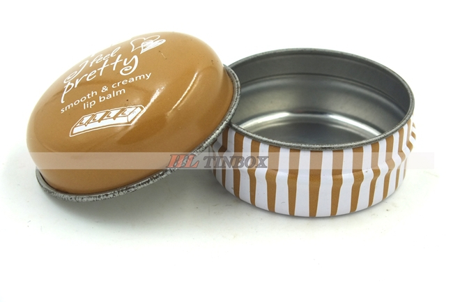Round Lip Balm Metal Tin Can Cosmetic jar