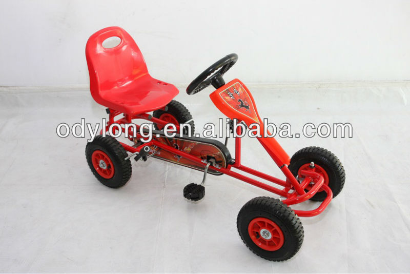 F5160-1 new design and high quality pedal go kart for 4 people family