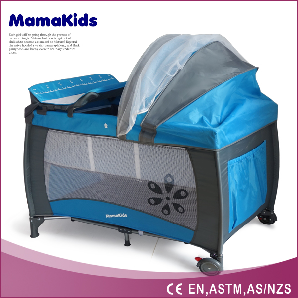hottest square portable baby plastic playpen with mosquito net