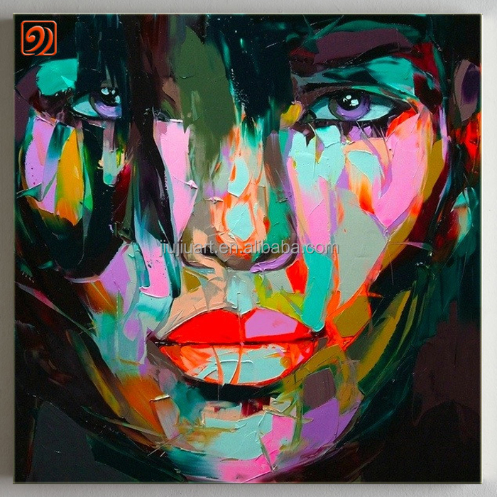 Wholesale Handmade canvas painting modern oil painting portrait painting pop <strong>art</strong>