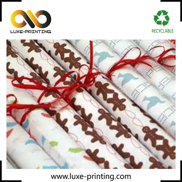 Good quality different size design crepe wrapping paper with logo