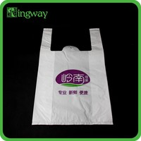 All new material PO vest reusable shopping bag for packaging printing logo plastic bag with side gusset T-shirt bag