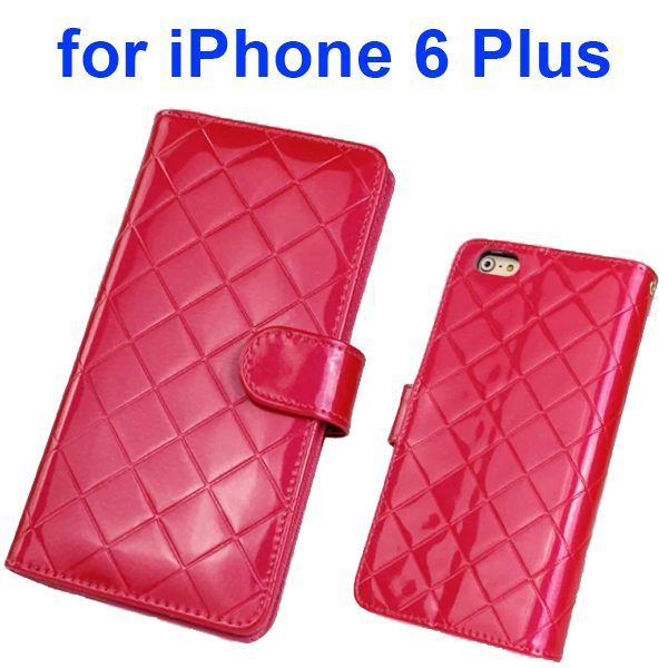 Top Grade Multifunctional Flip Wallet Leather Case for iPhone 6 Plus 5.5 Inch with Card Holder and Lanyard