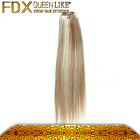 Piano Color #10/#24 Straight wave Cheap Hair Weaving Brazilian Human Hair
