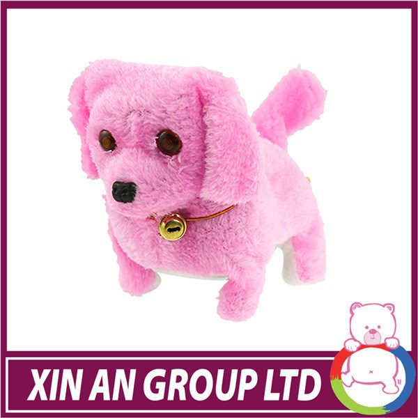 CE certificated plush stuffed animal wholesale battery operated walking dog toy