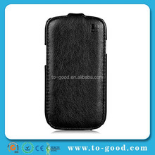 Black Leather Cheap Mobile Phone Case For Samsung Galaxy S3 Mini,For S3 Mini Case