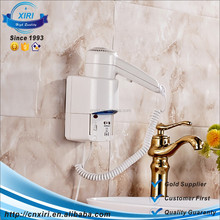 2017 new abs unique mini bathroom wall mounted hair dryer HFQ-2
