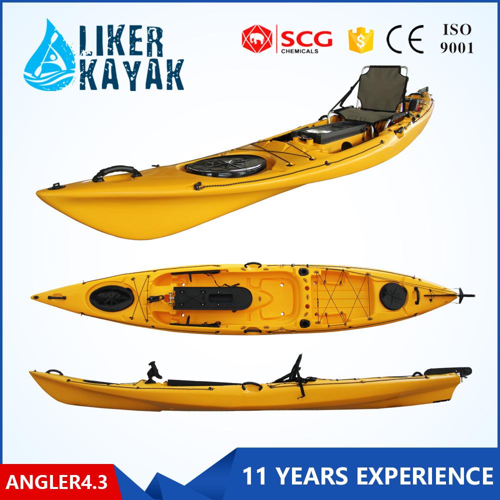 New single fishing kayak pro angler with pedals and rudder for Fishing kayak with pedals