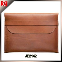 High quality vintage brown leather tablet sleeve laptop sleeve