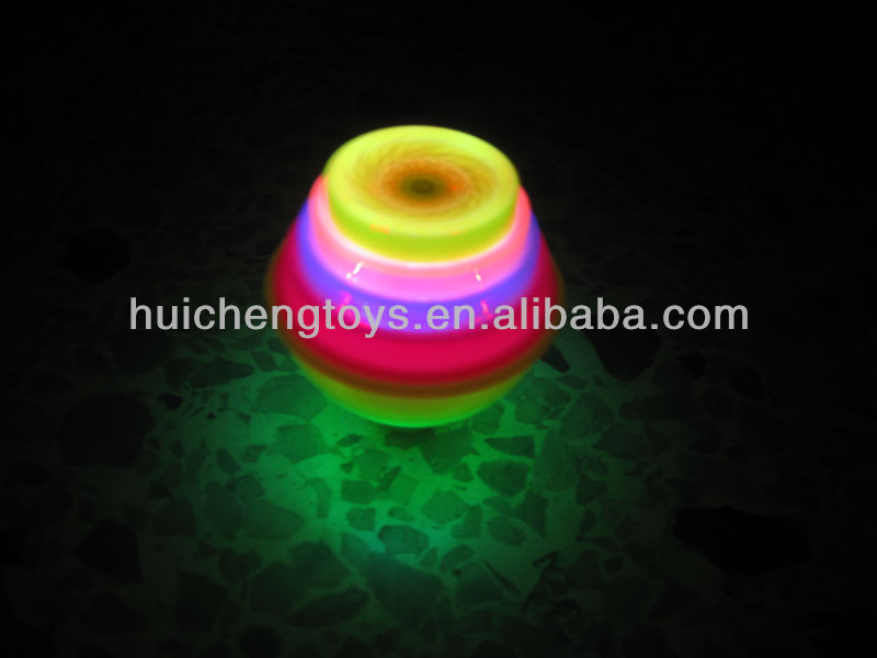 Super power flashing spinning top with music HC92308