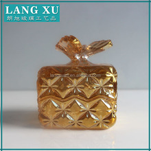 Butterfly candy dishes gold colored glass jars wholesale