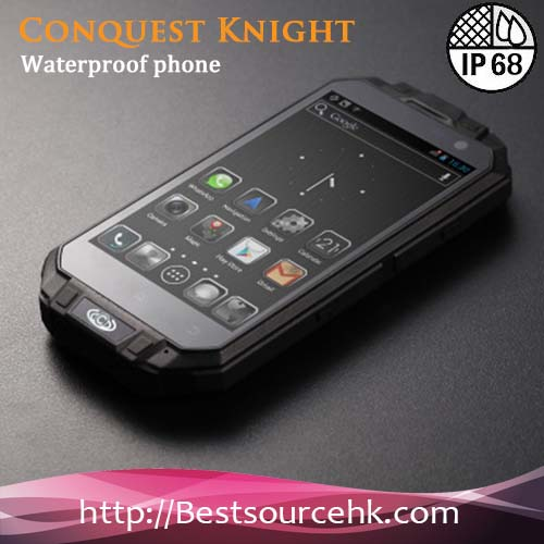 4.3 Inch Waterproof Conquest Knight XV T3 Smartphone Android Smartphone