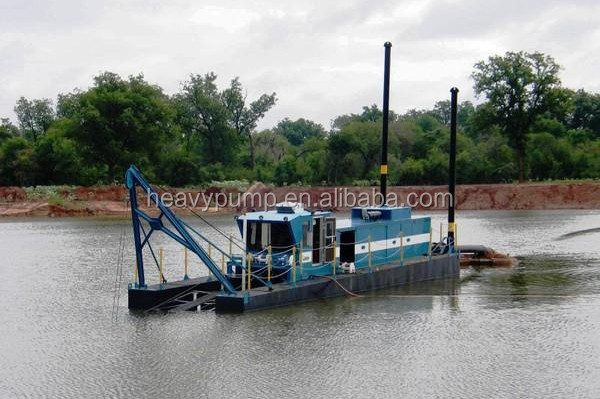 Shijiazhuang Heavy Pump HP200 Cutter Suction Dredger for River Sand Extraction Dredging