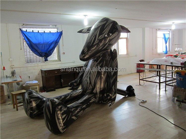customized inflatable wolf /inflatable model for advertising