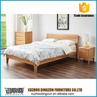 simple design wooden double bed design cheap price china made solid wood material latest design queen size wooden bed