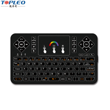 Attractive design Q9 7 rainbow Backlit colored wireless keyboard and mouse combo for Computer/PS3 /PAD/Android TV Boxes etc