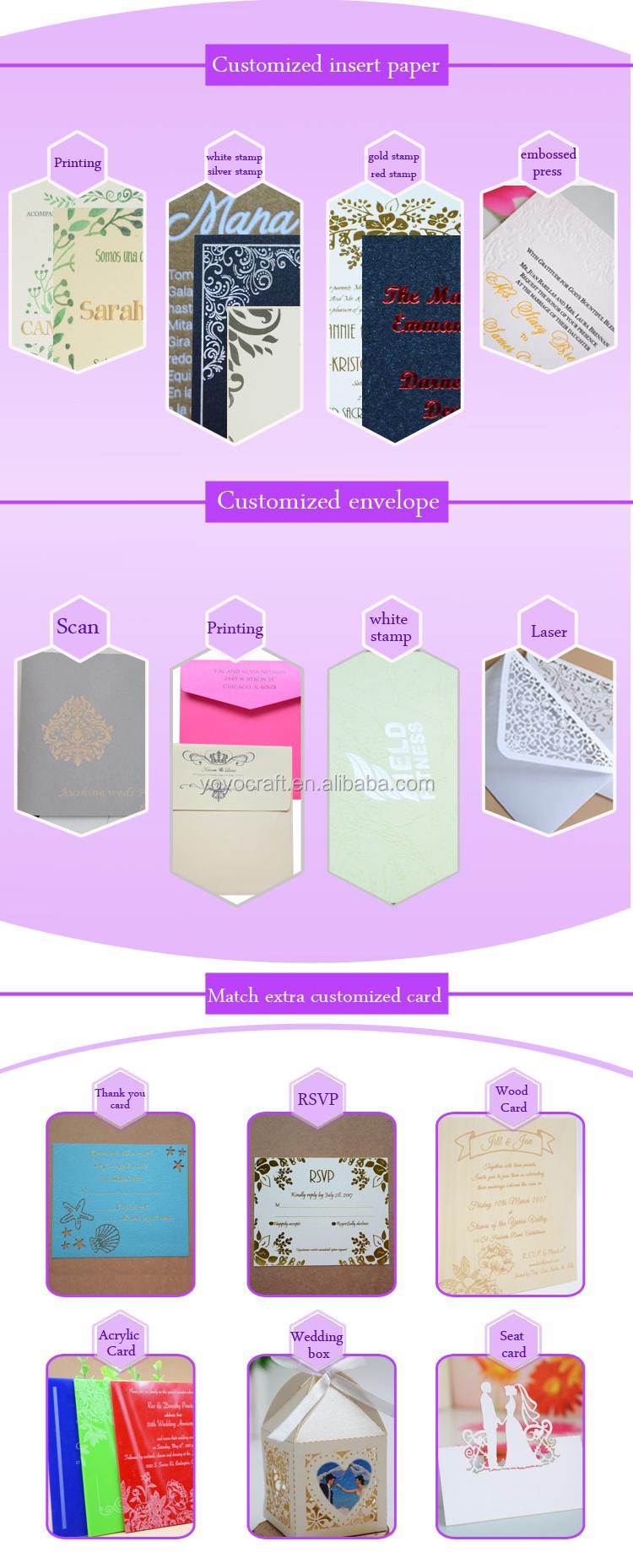 Tipos baratos invitación puede personalizar tamaño A4 papel de la ...