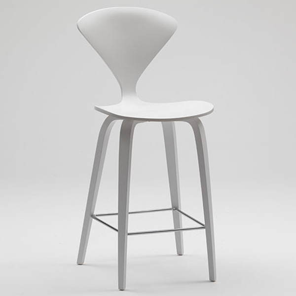 Ant Bar chair Cherner wooden chair line cherner bar chair in white painting