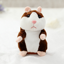 Christmas New baby educational toy Lovely Talking Hamster Plush Toy Sound Record Speaking Hamster Talking Toys for Children