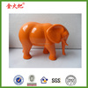 Hot sale promotion orange elephant figurine home ornament