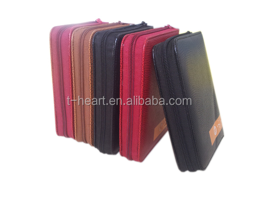 good price book leather cover with zipper for small size holy quran book