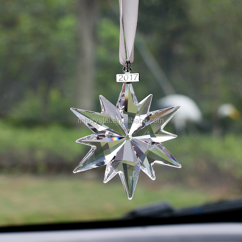 Crystal Hanging Decoration Glass Personalized Snowflake Ornaments MH-12844