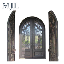Heat insulation Security Iron Door / Cast Iron Wood Stove Door