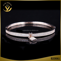 Wholessale high quality bracelet & bangle, fashion pendant lock charm bangle