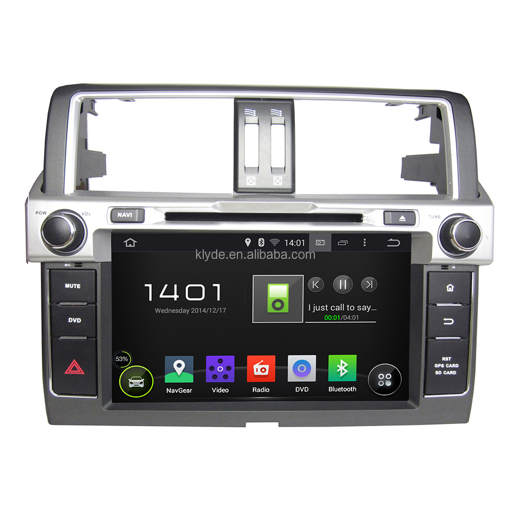 Android OEM car DVD player Multimedia with Audio, Radio, BT, IPOD, GPS for Toyota Prado 2014