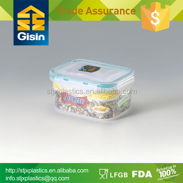 500ML pp plastic food sushi container for food