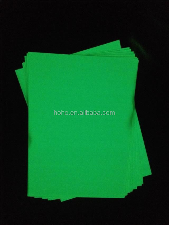 Night glow green screen print photo luminescent vinyl film