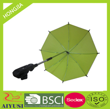 China factory stick long shaft manual 23 inch green fishing umbrella for outdoor