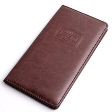 Nice looking handmade soft pu leather bill folder for restaurant