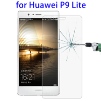 0.3mm 9H Explosion-proof Tempered Glass Screen Protector, Non-full Screen Film for Huawei P9 Lite