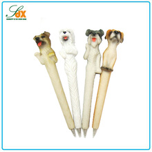 New style business promotional gifts different styles resin lovely dog ball pen