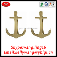 best selling manufacture customized brass anchor m8, gold anchors with OEM