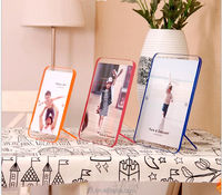 New launching original creation Magnetic family custom acrylic photo frame, cute lover photo album frame holder