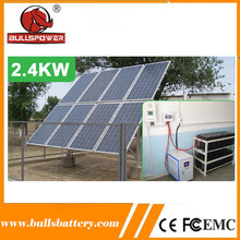 Easy install 3000 watt solar panel irrigation system for agriculture with solar panel