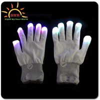 LED lighted flashing gloves, Laser flashing color gloves, night light gloves