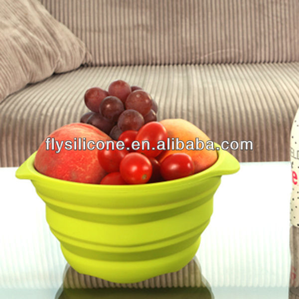 Foldable Microwave Safe Silicone Carrier Fruit Basket, Kitchen Tool