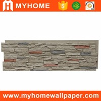 Exterior artificial stone type cultured stone panel polyurethane PU faux stone wall panel