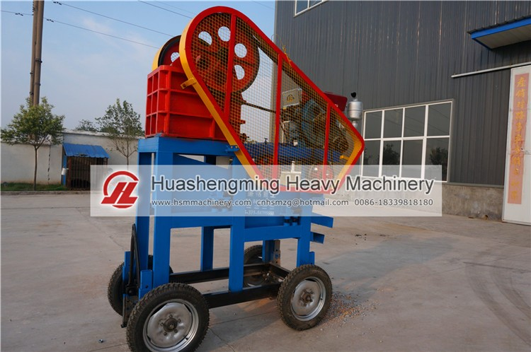 HSM CE ISO Mini Diesel Engine Stone Crusher For Sale