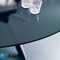 Excellence quality Tempered black glass for table top