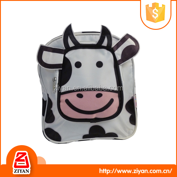 Funny cute animal cow design cartoon kids school backpack bag