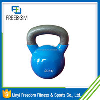 Discount Wide Handle Vinyl Kettlebell Set